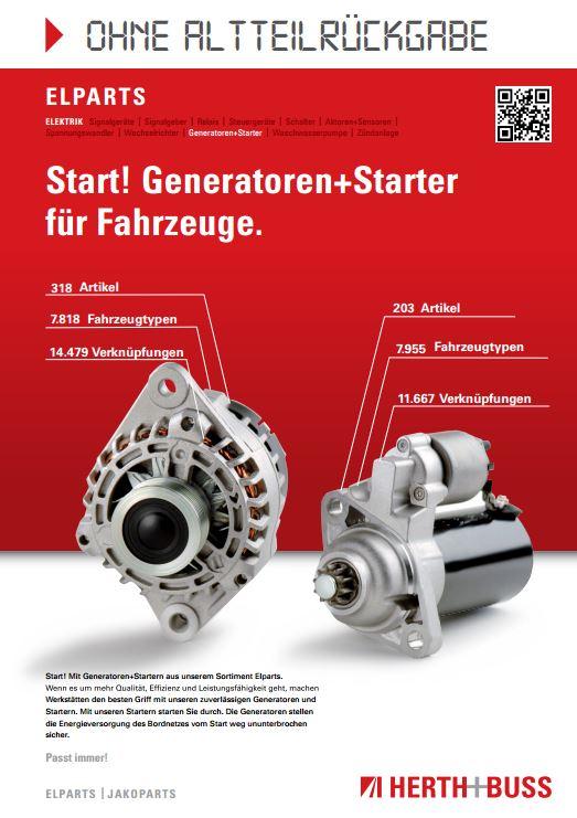 Start! Generatoren+Starter für Fahrzeuge